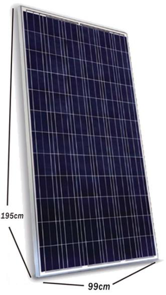 Panel solar WCCSolar de 330W a 24v policristalino de 72 células