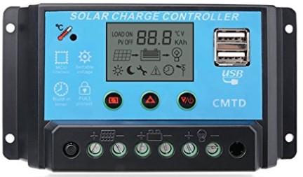 Funciones de un regulador solar PWM