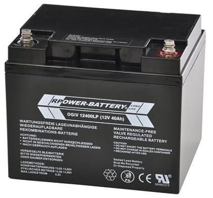 Batería AGM RPower de 40Ah a 12v / OGiV12400LP