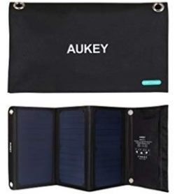 Comprar AUKEY PB-P4 Cargador Panel Solar 21W con 2 Puertos USB 5V 4A Max