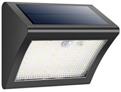 Comprar iPosible Foco Solar 38 LED,Luces Solares,1500mAh Lámparas Solares de Pared
