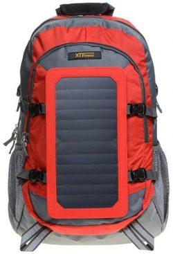Comprar XTPower® SP507BL 6,5 W Mochila solar en gris rojo - Bolsa solar de nailon -