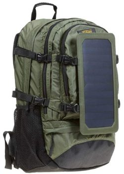 Comprar XTPower® SP607BL 6,5 W Mochila solar en verde - Bolsa solar de nailon -