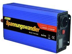 Comprar inversor de corriente 1200 2500w onda modificada 12v a 220v transformador onda modificada LCD