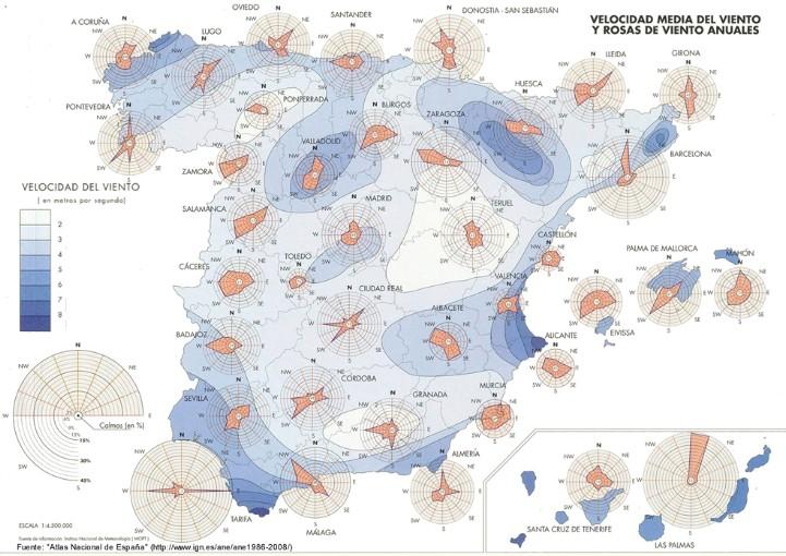 Mapa viento España