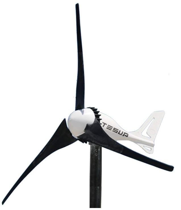 Comprar TESUP Aerogenerador i-500 + Interruptor manual para aerogeneradores - Fabricado en Europa (12 V)