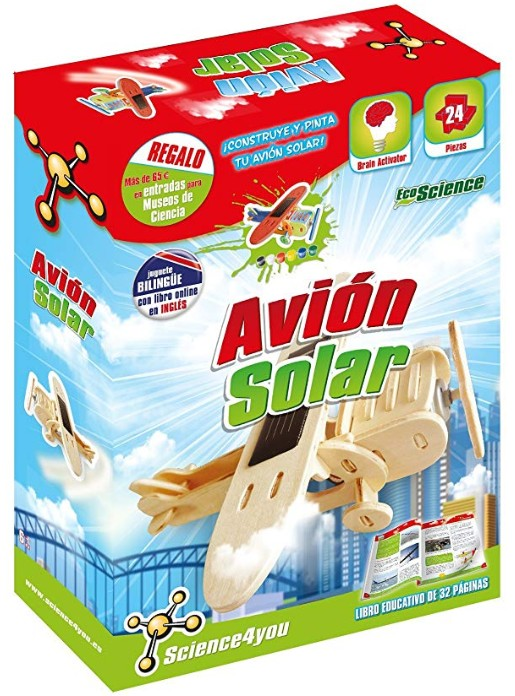 Comprar Science4You-Science4you Avión Solar-Juguete científico y Educativo (80001524)