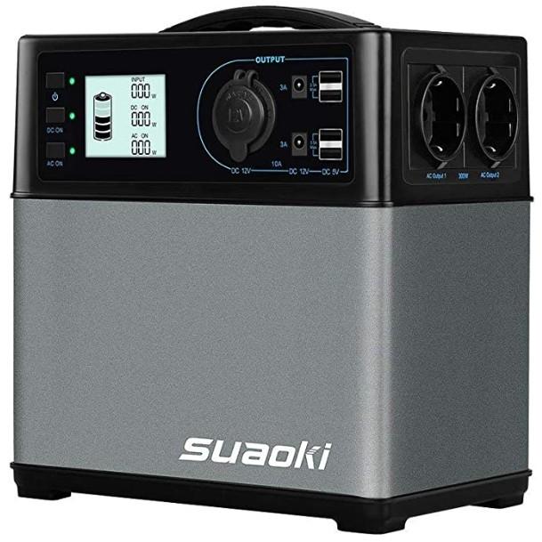 Comprar SUAOKI - 400Wh120,000mAh Generador Portátil Solar, Almacenamiento Suministro de Energía (AC salidacoche, 4 USB puertos, AC y DC inversor de corriente