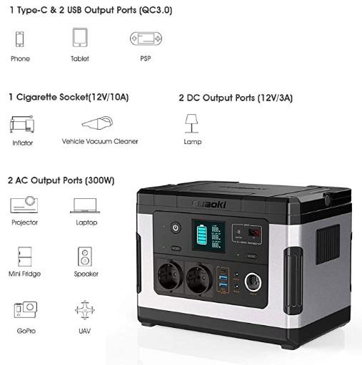 Usos del Suaoki generador solar G500